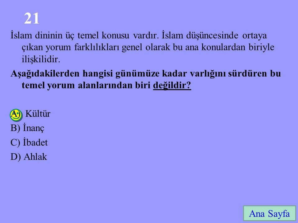 21 Ana Sayfa İslam dininin üç temel konusu vardır.
