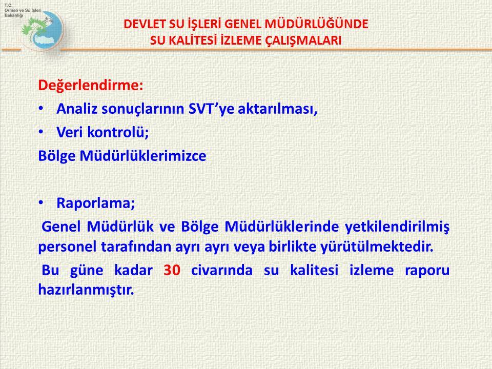 DEVLET SU İŞLERİ GENEL MÜDÜRLÜĞÜNDE SU KALİTESİ İZLEME ÇALIŞMALARI