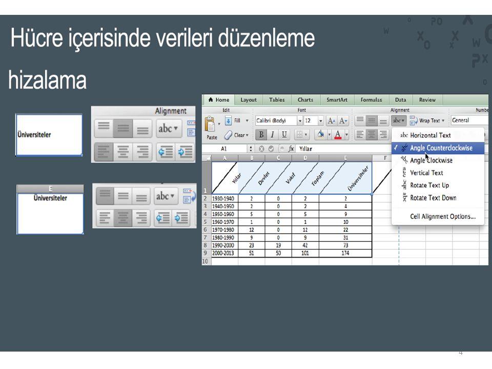 Excel' de Formül Oluşturma 4.