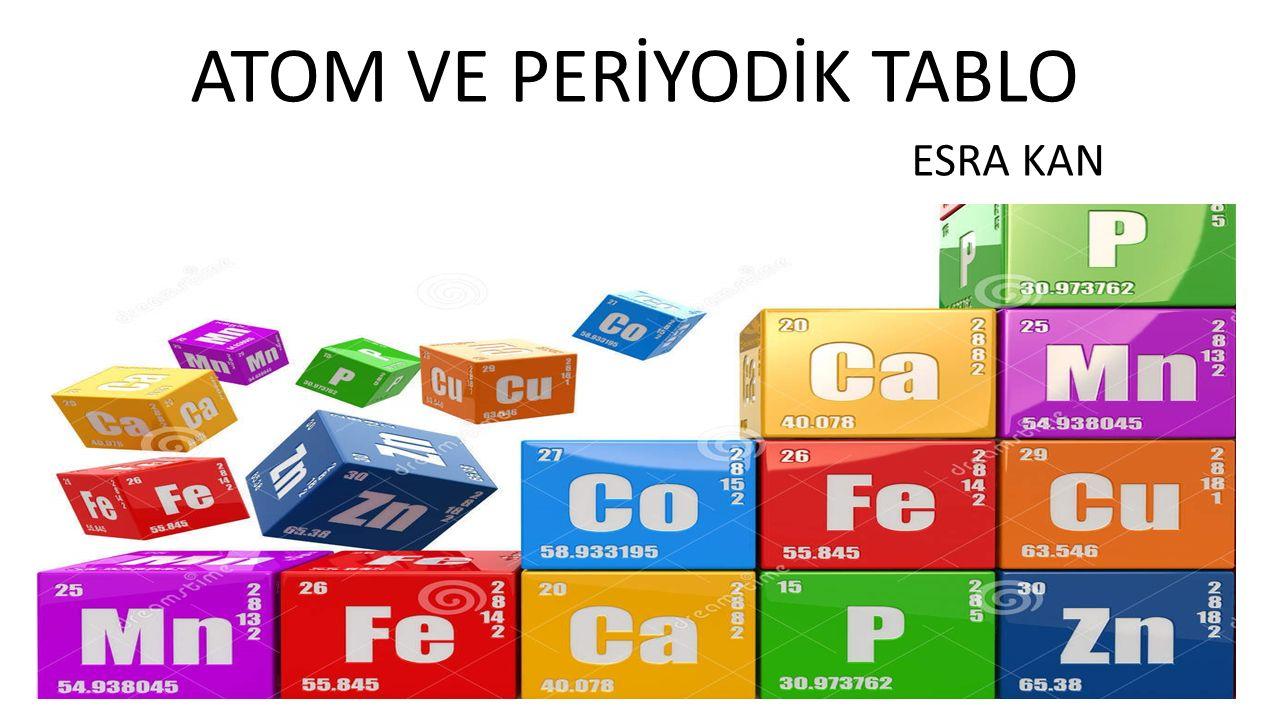 ATOM VE PERİYODİK TABLO ESRA KAN