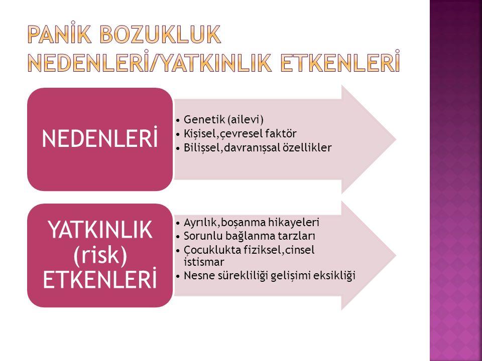 Genetik (ailevi) Kişisel,çevresel faktör Bilişsel,davranışsal özellikler NEDENLERİ Ayrılık,boşanma hikayeleri Sorunlu bağlanma tarzları Çocuklukta fiz
