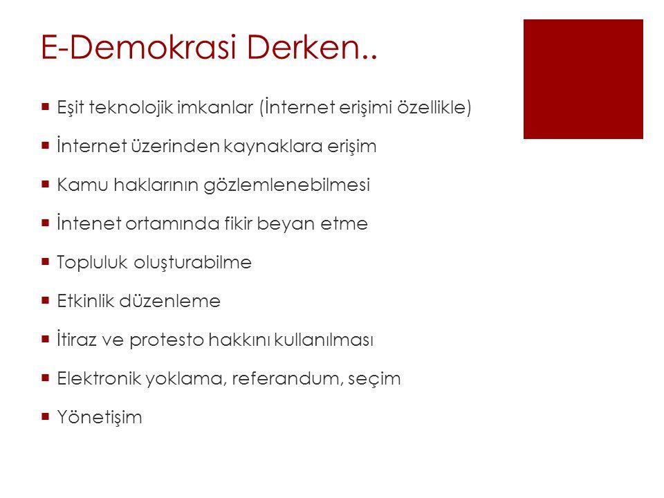 E-Demokrasi Derken..