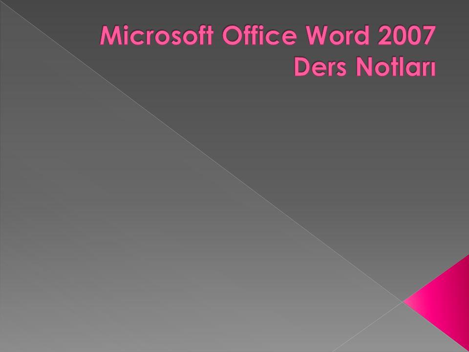  Belgeyi Kaydetme  Word programında açtığımız boş belgenin adları sırası ile belge1, belge2 … gibi devam eder.