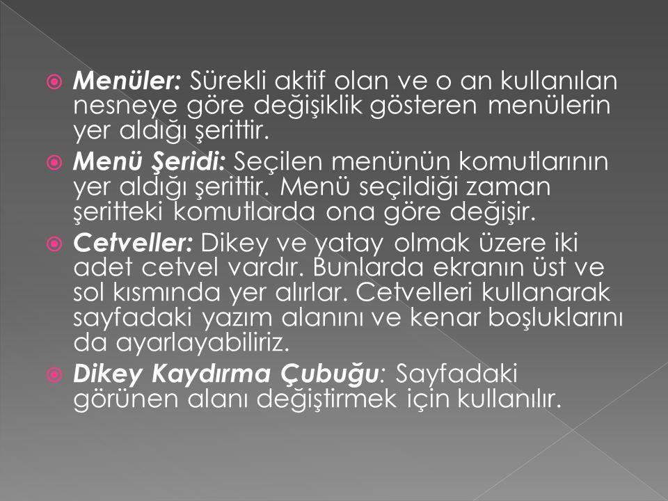  Hatalı Sözcükleri Düzeltme  Word programı, siz yazarken yazdığınız her kelimenin Türkçe (yazım dili hangi dile ayarlı ise) yazım kılavuzunda bulunup bulunmadığını kontrol eder.