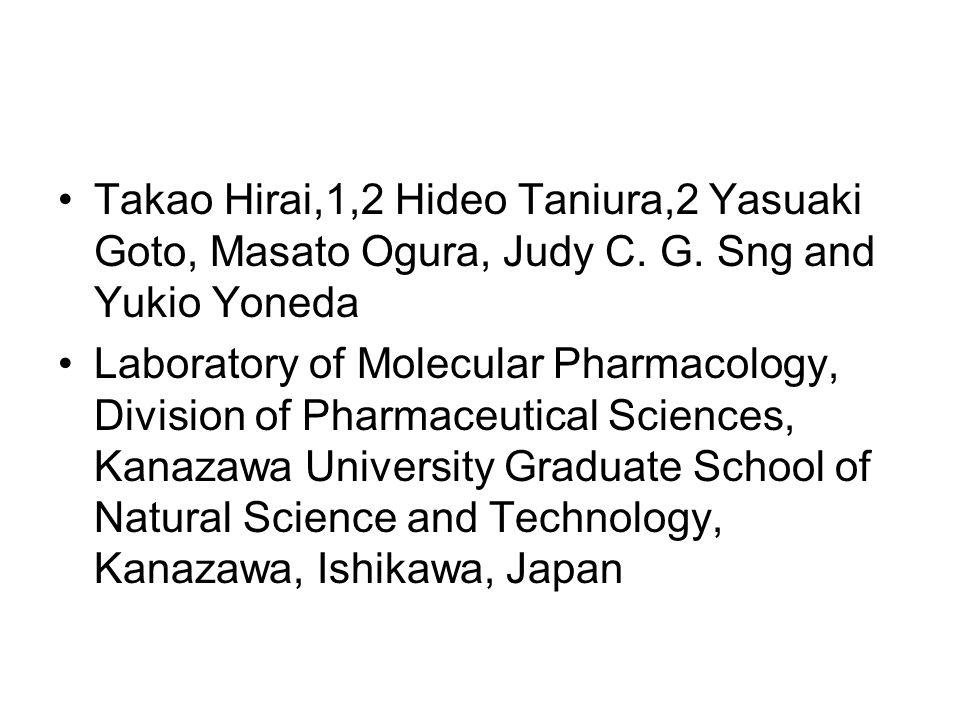 Takao Hirai,1,2 Hideo Taniura,2 Yasuaki Goto, Masato Ogura, Judy C.