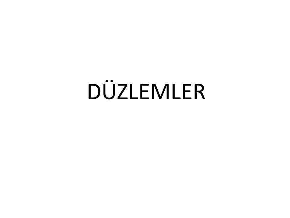 DÜZLEMLER