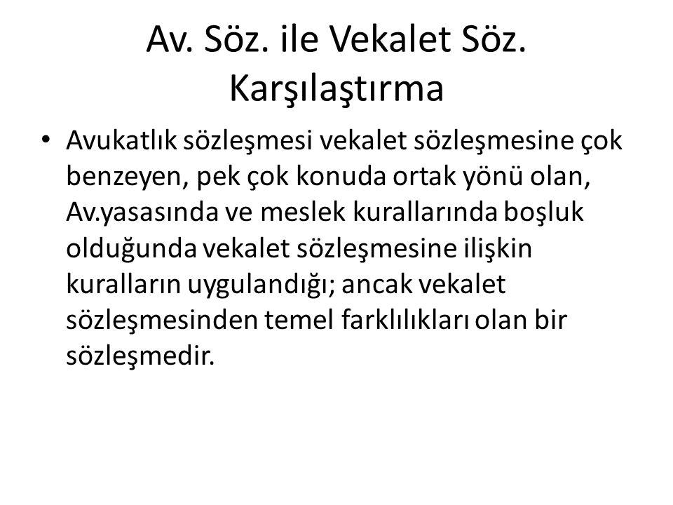 Av. Söz. ile Vekalet Söz.