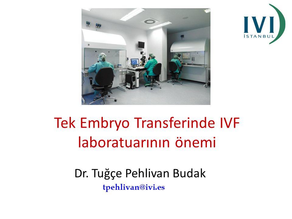 Tek Embryo Transferinde IVF laboratuarının önemi Dr. Tuğçe Pehlivan Budak tpehlivan@ivi.es