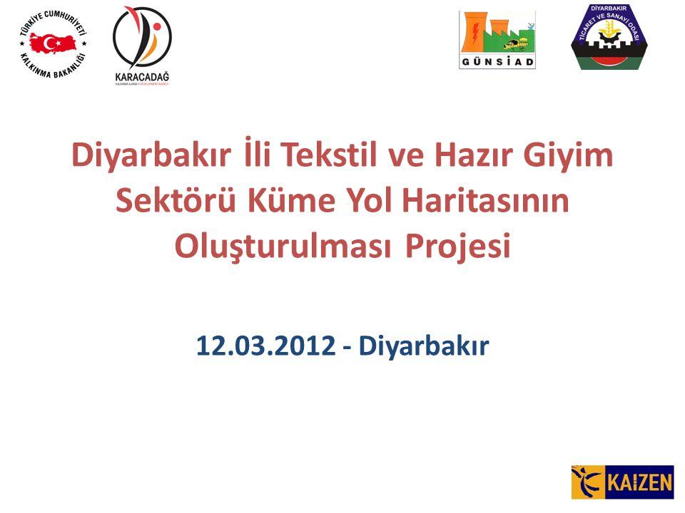 Diyarbakır İli Tekstil ve Hazır Giyim Sektörü Küme Yol Haritasının Oluşturulması Projesi 12.03.2012 - Diyarbakır