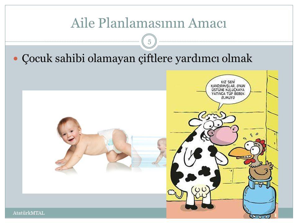 Aile Planlamasının Amacı Çocuk sahibi olamayan çiftlere yardımcı olmak AtatürkMTAL 5