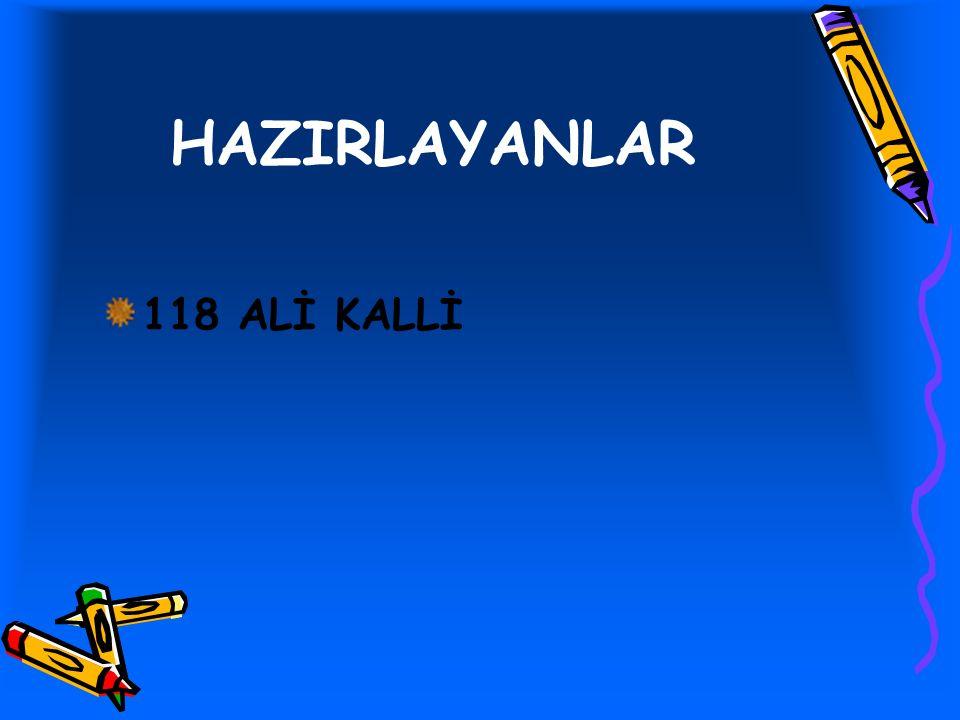 HAZIRLAYANLAR 118 ALİ KALLİ