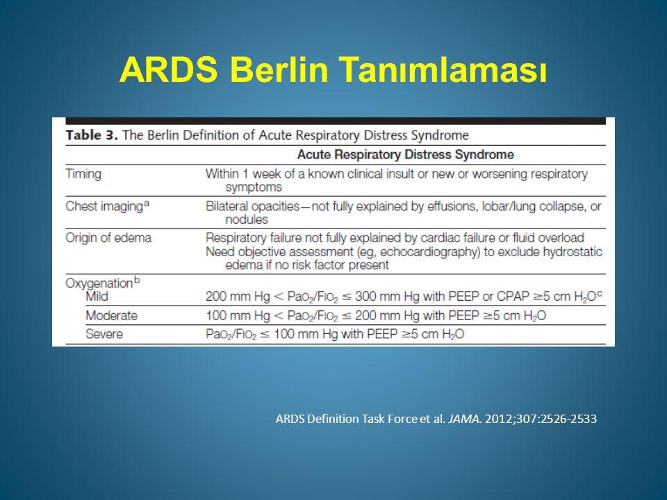 ARDS Berlin Tanımlaması ARDS Definition Task Force et al. JAMA. 2012;307:2526-2533