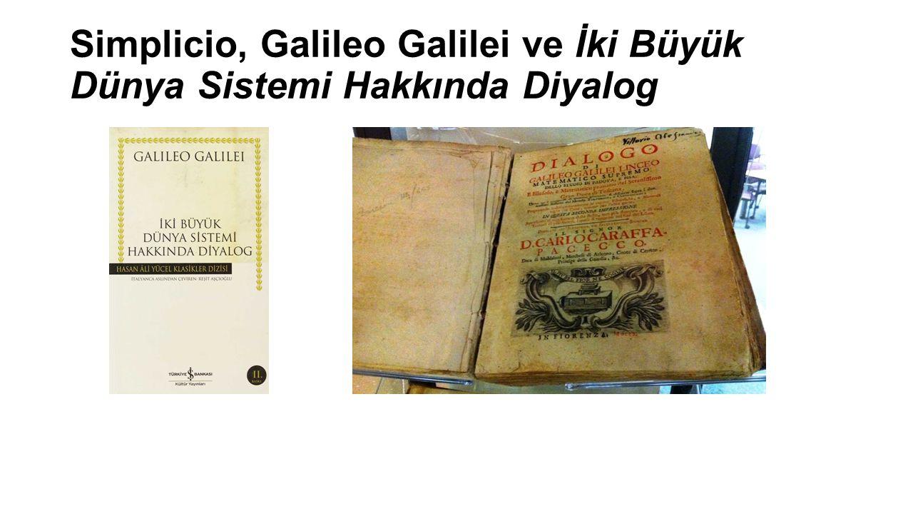 Simplicio, Galileo Galilei ve İki Büyük Dünya Sistemi Hakkında Diyalog
