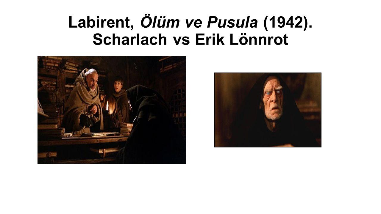 Labirent, Ölüm ve Pusula (1942). Scharlach vs Erik Lönnrot