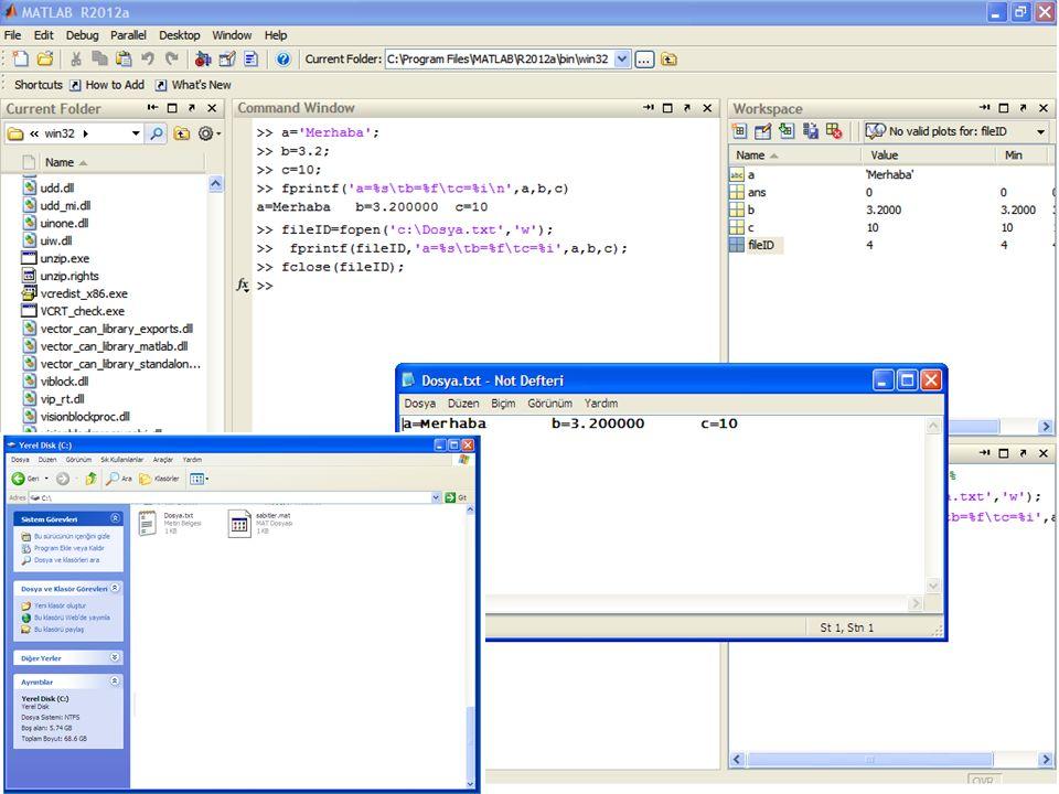 M-Files Program codlarını içeren file m-file adı verilir.