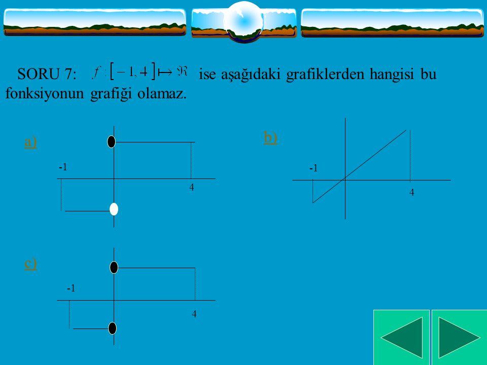 SORU 6: Yandaki şekle göre aşağıdakilerden hangisi doğrudur.