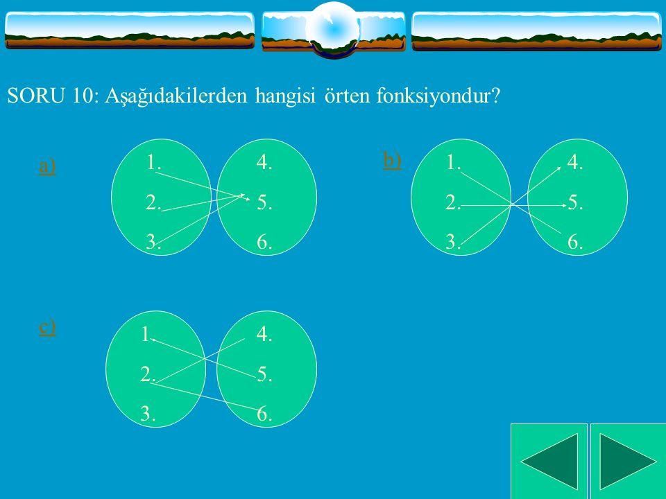 SORU 9: A={ 2,4,6} ve B={5,9,13,15} olsun.