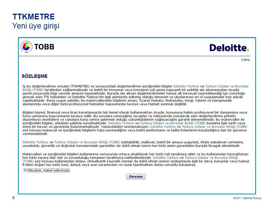© 2011 Deloitte Türkiye 19 DİĞER BİLGİLER