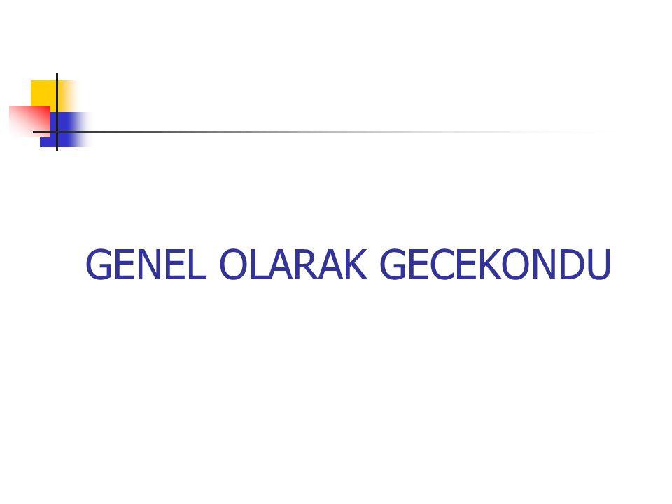 GENEL OLARAK GECEKONDU