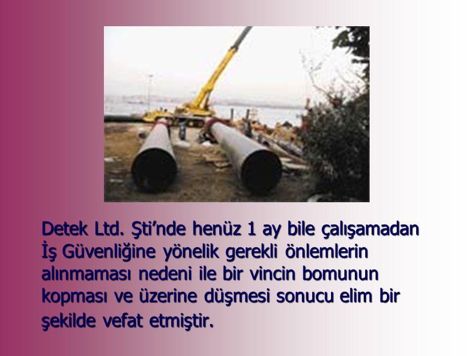 2007 yılında HKMO'nda sürdürdüğü görevinden istifa ederek eylül ayı başında deniz ölçmelerinde görev alacağı Detek Ltd.