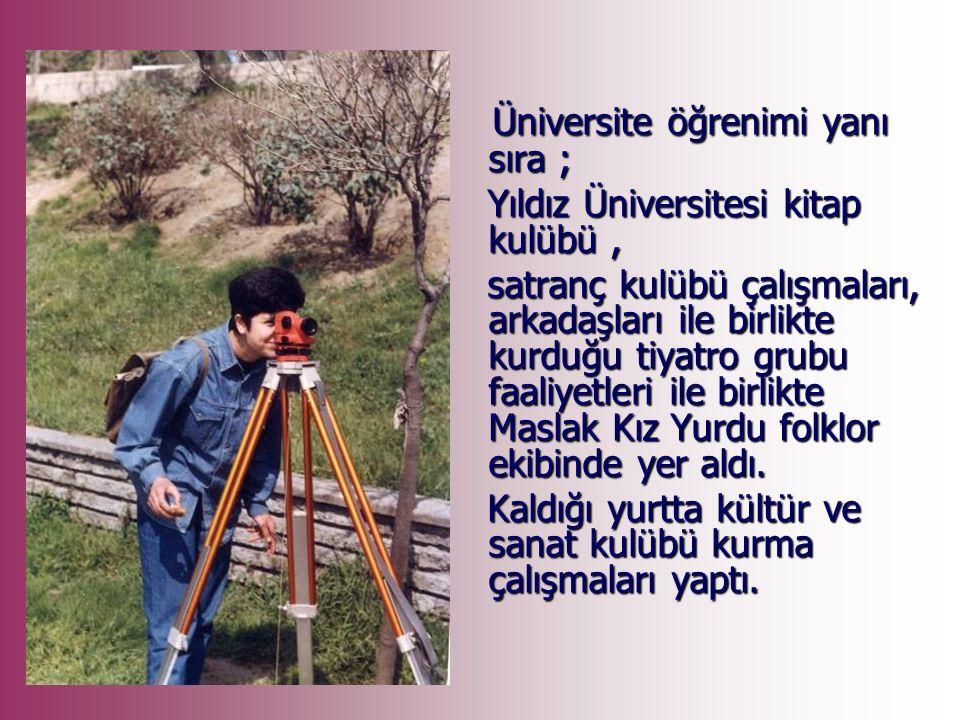 İlk ve Orta öğrenimini Gölpazarı'nda tamamadıktan sonra, 1988 yılında Yıldız Üniversitesi Jeodezi ve Fotogrametri Mühendisliği Bölümünü kazanarak İstanbul'a geldi.