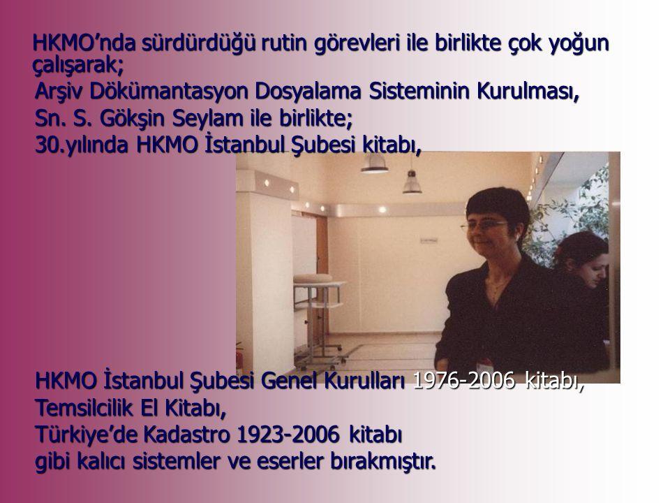 2001 Yılında HKMO'da İstanbul şube müdürü olarak çalışmaya başladı.