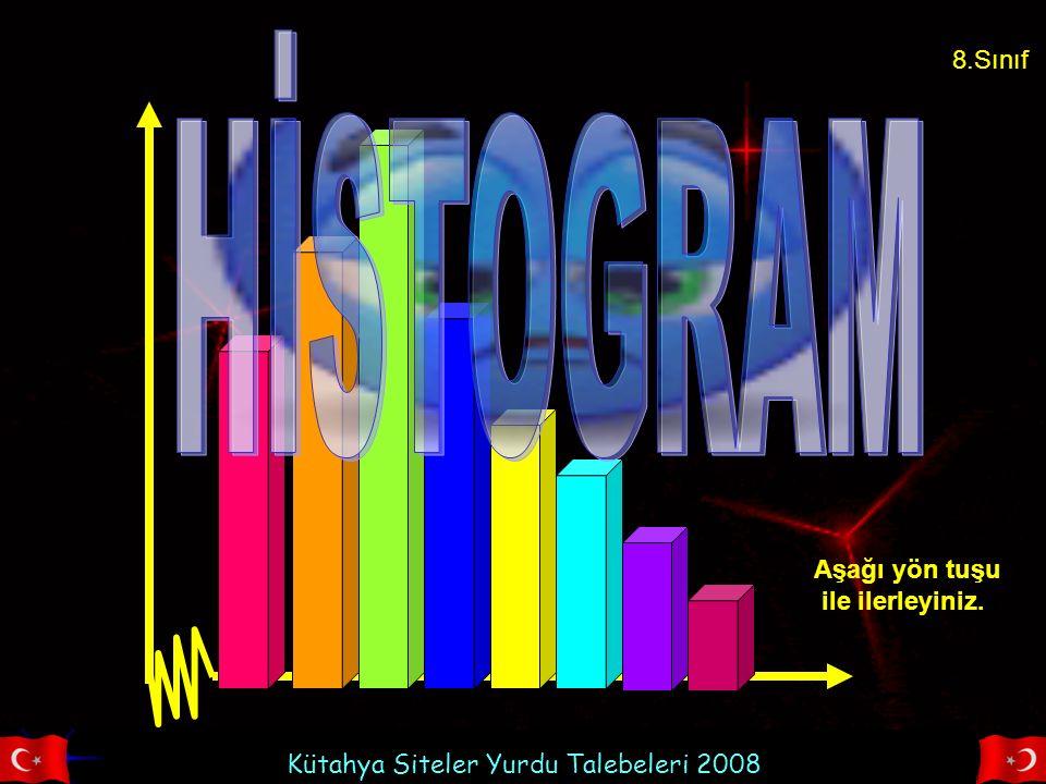 Kütahya Siteler Yurdu Talebeleri 2008 Yaşamımızda bir çok alanda verilerin analizinde histogram tekniğinden faydalanırız.