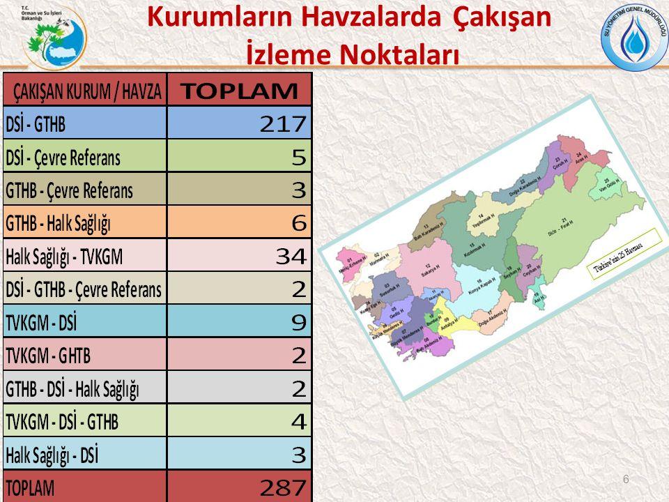 47 VAN GÖLÜ HAVZASI OPERASYONEL İZLEME NOKTALARI Toplam 12 operasyonel izleme noktası
