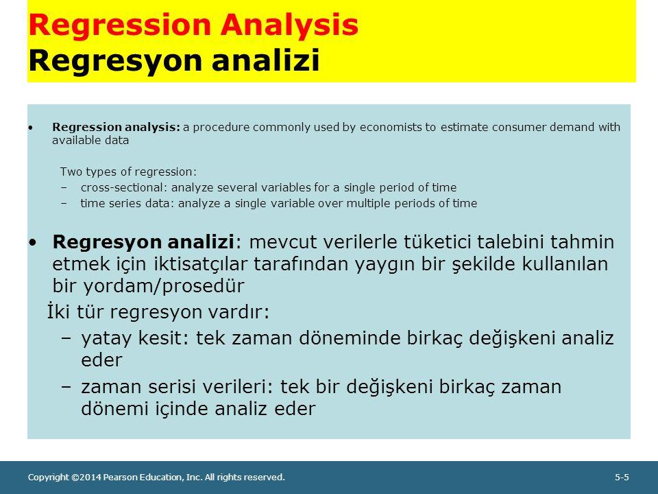 Copyright ©2014 Pearson Education, Inc.All rights reserved.5-16 Regresyon analizi, örnek 3.
