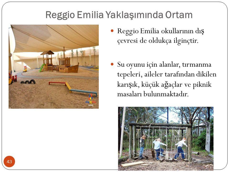 Reggio Emilia Yaklaşımında Ortam Reggio Emilia okullarının dı ş çevresi de oldukça ilginçtir.