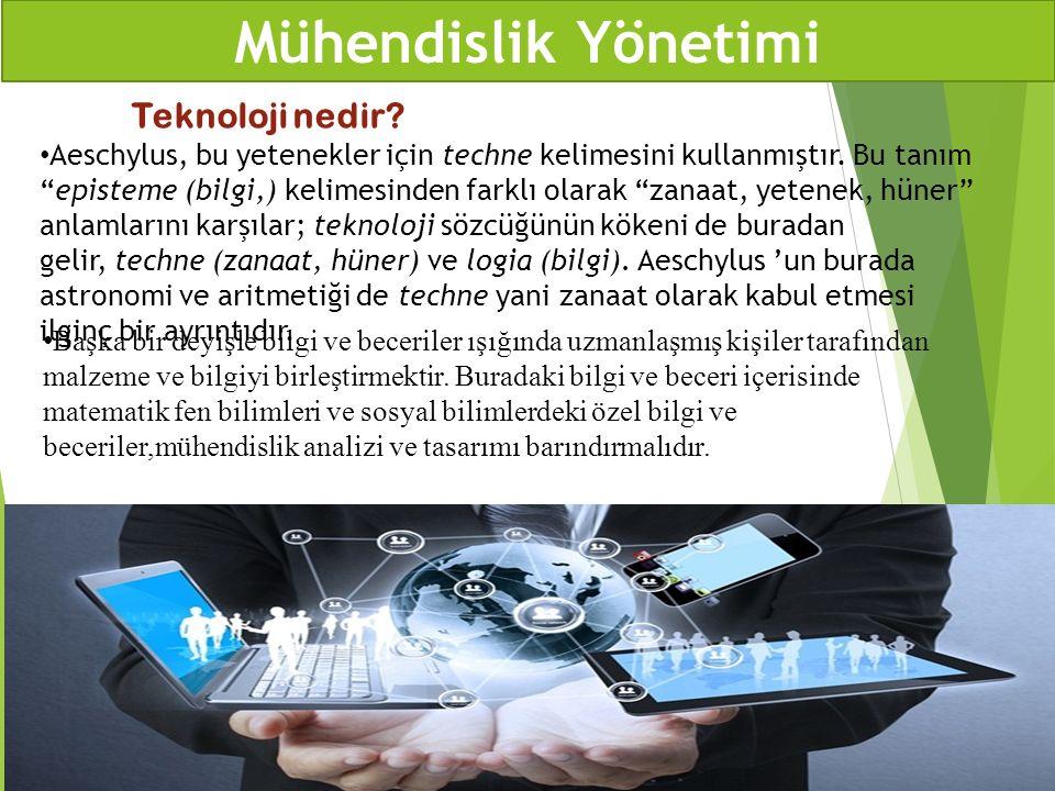 Teknoloji nedir? Başka bir deyişle bilgi ve beceriler ışığında uzmanlaşmış kişiler tarafından malzeme ve bilgiyi birleştirmektir. Buradaki bilgi ve be