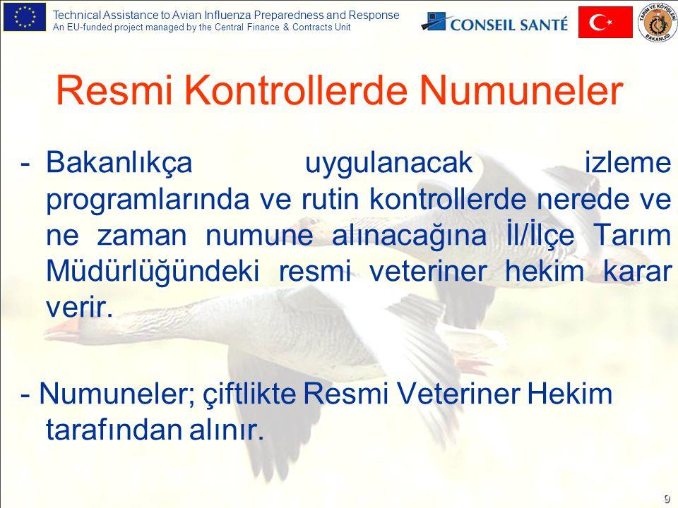 Technical Assistance to Avian Influenza Preparedness and Response An EU-funded project managed by the Central Finance & Contracts Unit 10 İlginiz için Teşekkürler