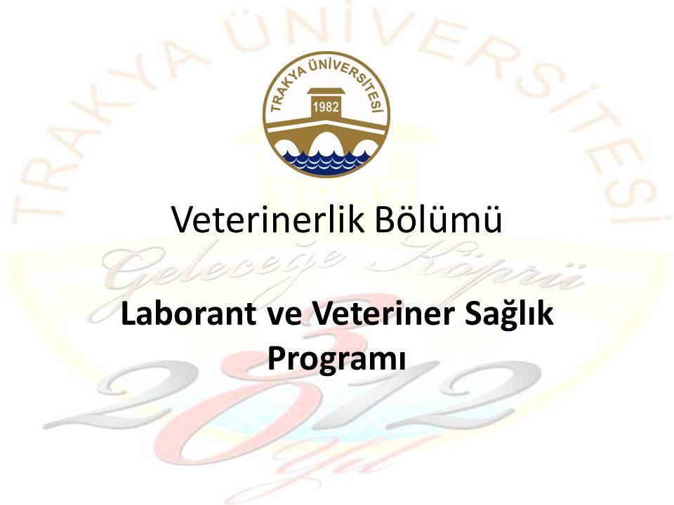 Veterinerlik Bölümü Laborant ve Veteriner Sağlık Programı