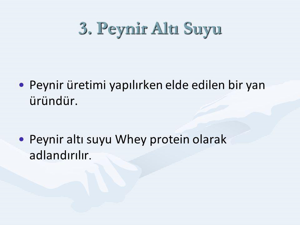 3.Yoğurt Süt'ün yoğurt mayası ile mayalandırılması sonucu elde edilen bir besindir.