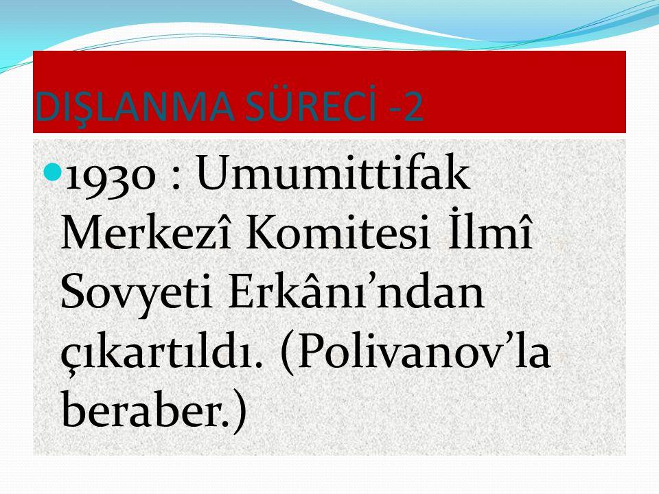 DIŞLANMA SÜRECİ Kırım Azerbaycan 1924: Türk milliyetçisi damgası yediği için Bakû'dan gelen teklifi kabul etti.