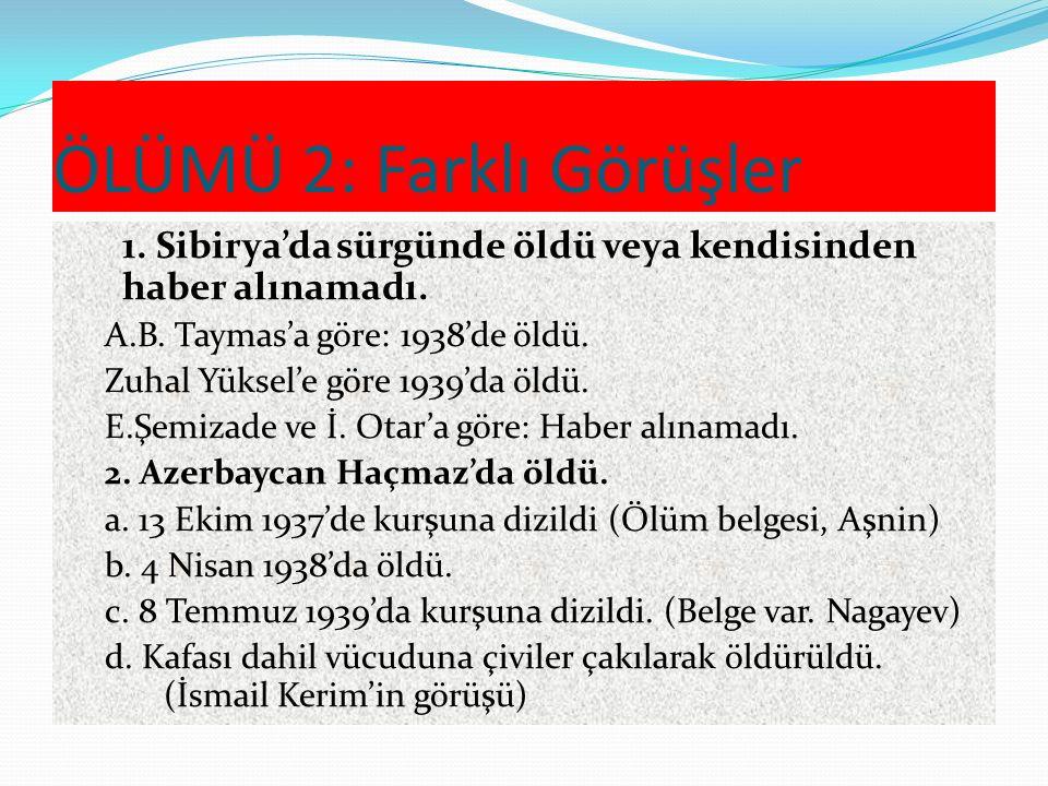 ÖLÜMÜ 1: Sona götüren sürgün 15 Ocak-15 Şubat 1937: Azerb.