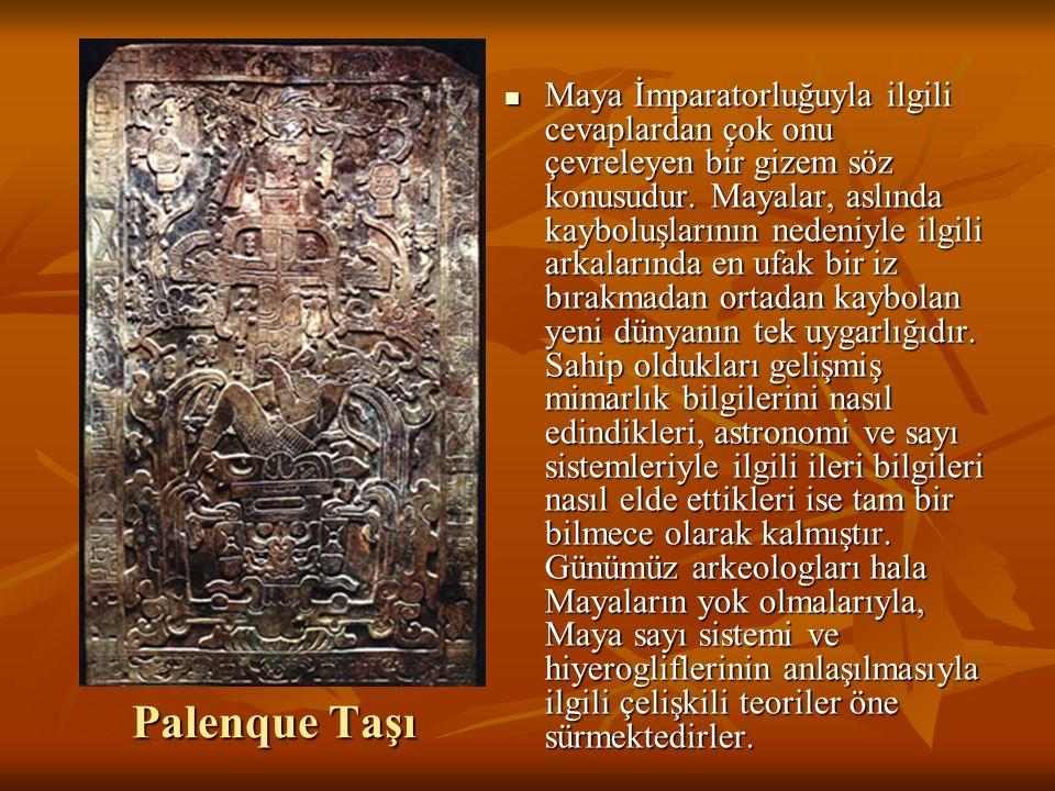 Palenque Taşı Maya İmparatorluğuyla ilgili cevaplardan çok onu çevreleyen bir gizem söz konusudur.