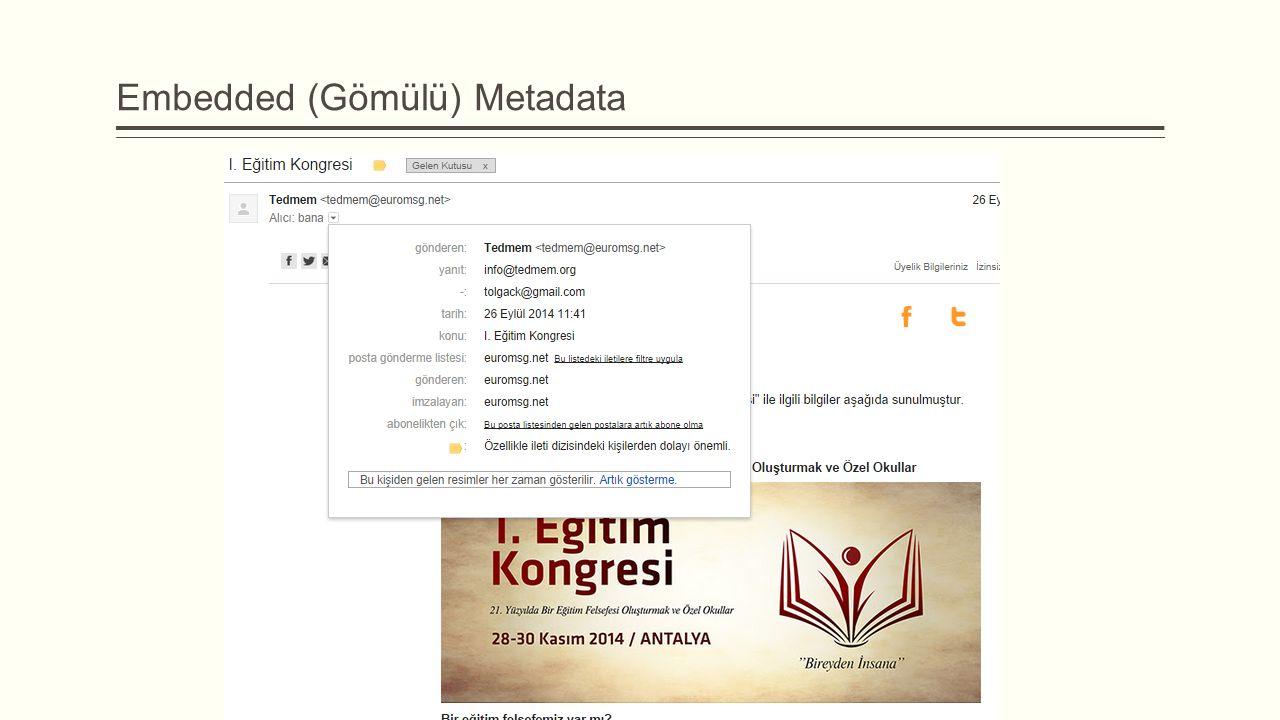 Embedded (Gömülü) Metadata
