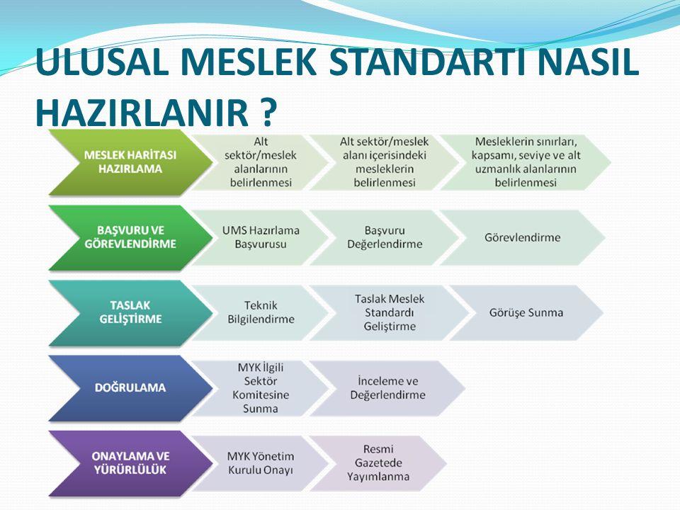 ULUSAL MESLEK STANDARTI NASIL HAZIRLANIR