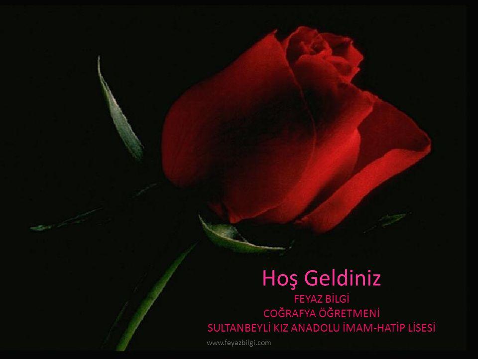Hoş Geldiniz FEYAZ BİLGİ COĞRAFYA ÖĞRETMENİ SULTANBEYLİ KIZ ANADOLU İMAM-HATİP LİSESİ www.feyazbilgi.com