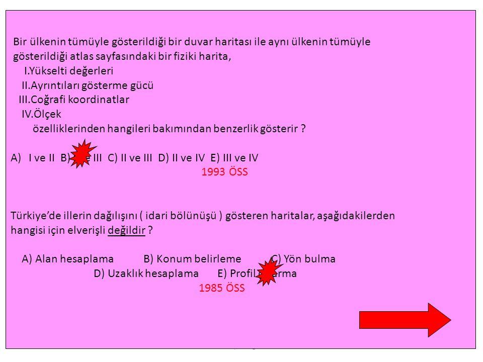 www.feyazbilgi.com 3- Ölçek Bulma Harita alanı Ö = Gerçek alan Örnek 1 : Gerçekte 81 km² olan bir ada, haritada 9 cm² olarak gösterilmiştir. Buna göre