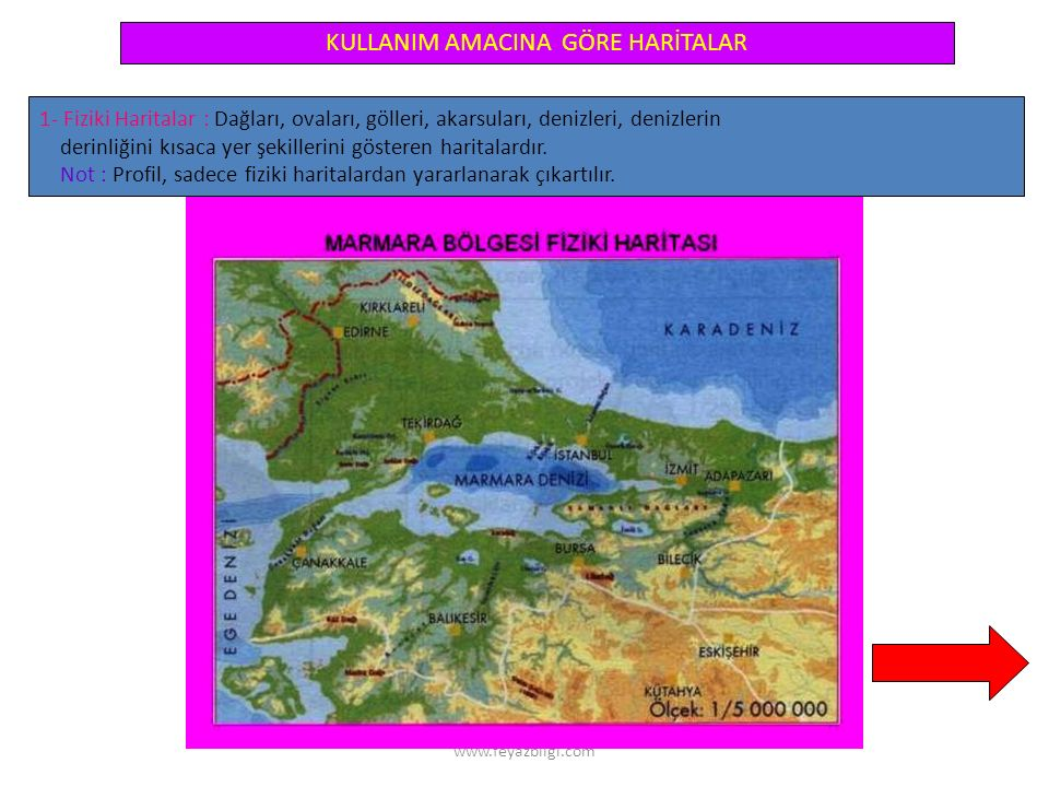 www.feyazbilgi.com 3- Ölçek Bulma Ö = Haritadaki uzunluk Gerçek uzunluk Örnek 1 : Bir atlasta, kıtaları gösteren haritalar eşit boyutlardaki sayfalara sayfanın tümü kullanılarak çizilmiştir.