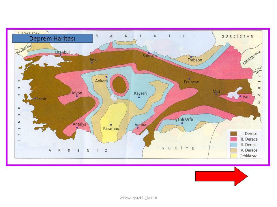 www.feyazbilgi.com 1- Gerçek Alan Hesaplama GA = Harita alanı X (Ölçek payda)² Örnek 1 : 1/ 2.000.000 ölçekli haritada bir gölün alanı 4,1 cm² olarak ölçülmüştür.
