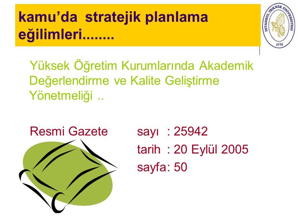 kamu'da stratejik planlama eğilimleri........