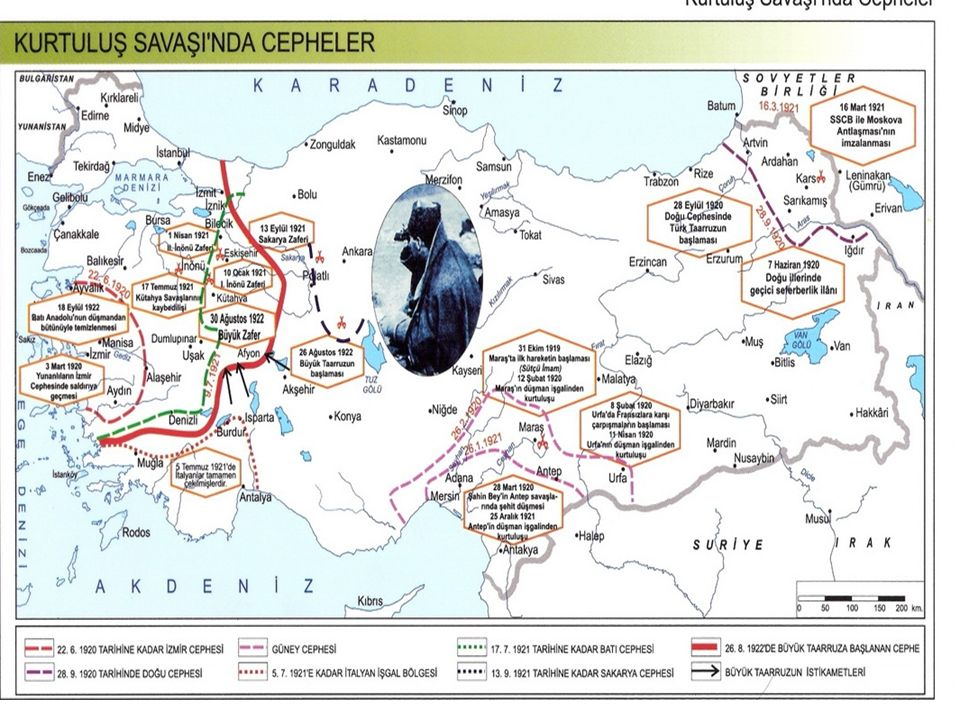 Güney Cephesindeki savaşlar Sakarya Savaşı'ndan sonra 20 Ekim 1921 tarihinde Fransa ile imzalanan Ankara antlaşması ile sona erdi.