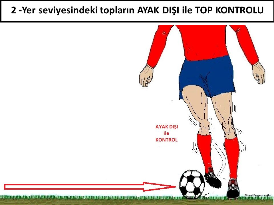 2 -Yer seviyesindeki topların AYAK DIŞI ile TOP KONTROLU
