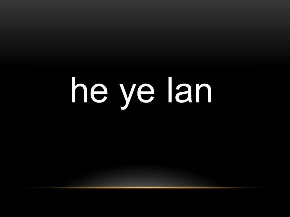 he ye lan