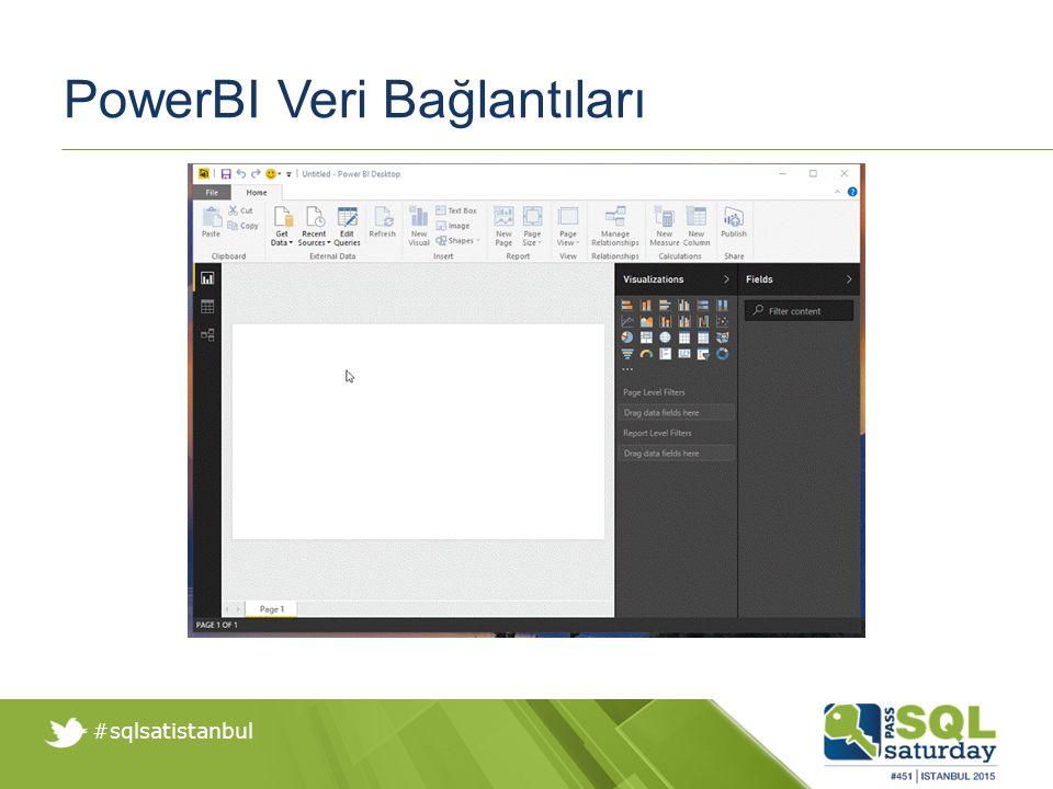 #sqlsatistanbul PowerBI Veri Bağlantıları