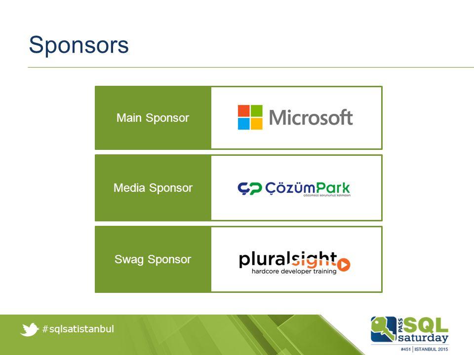 #sqlsatistanbul Sponsors Media Sponsor Main Sponsor Swag Sponsor