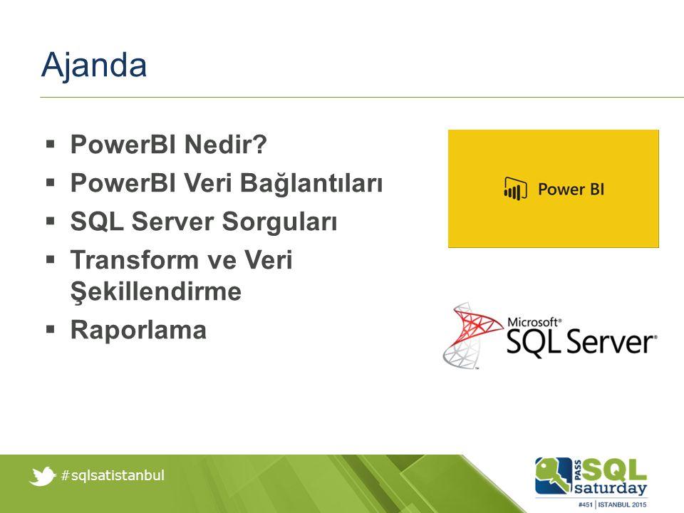 #sqlsatistanbul Demo Veri Şekillendirme ve Transformasyon Sütün Silme Guruplama Format Değiştirme Sütün Bölme Sorgu Ayarları Grafik Oluşturma Raporlama PowerBI Online Yayınlama Mobil Arayüz Takibi
